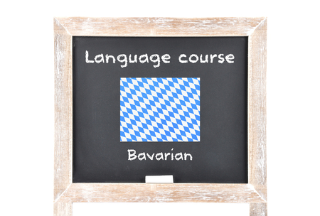 foreign nation: Language course with flag on board