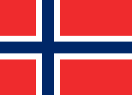 norway flag: Colored flag of Norway