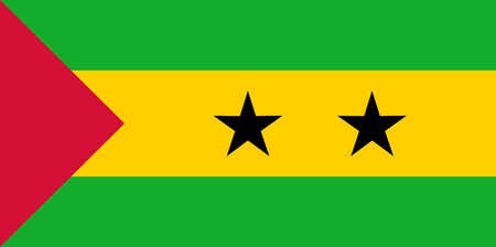 Colored flag of Sao Tome and Principe