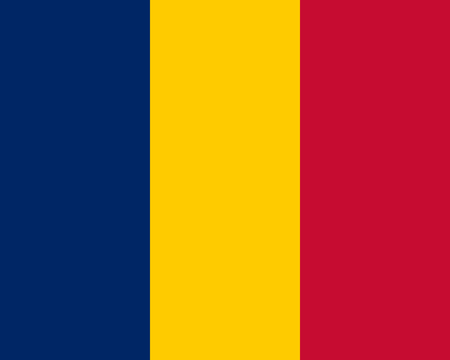 chad flag: Colored flag of Chad Illustration