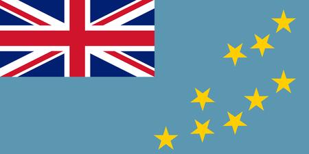 Colored flag of Tuvalu Illustration