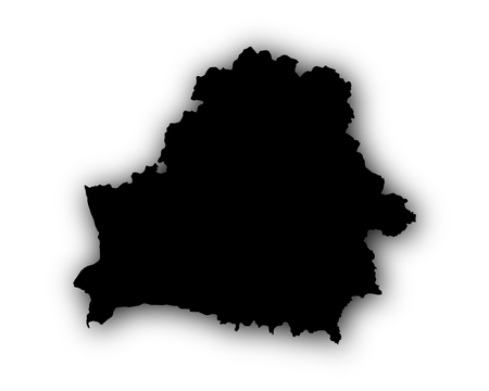 Map of Belarus with shadow Illustration