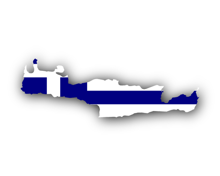 Map and flag of Crete