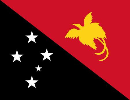 Nuova Guinea: Bandiera colorata della Papua Nuova Guinea Vettoriali