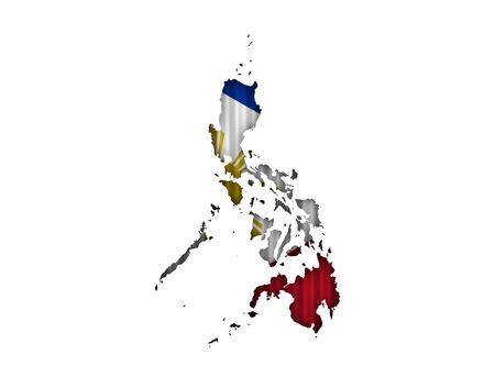 Map and flag of the Philippines on corrugated iron Stock Photo