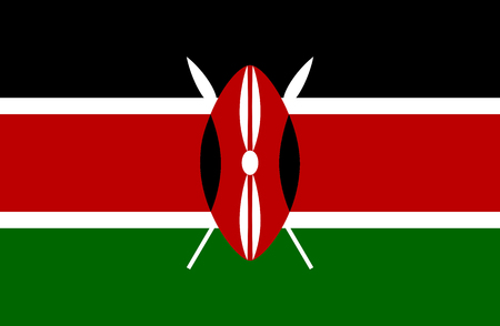 Colored flag of Kenya Illustration