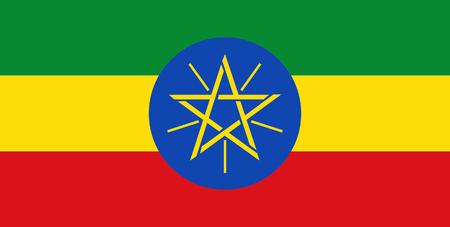 national flag ethiopia: Colored flag of Ethiopia