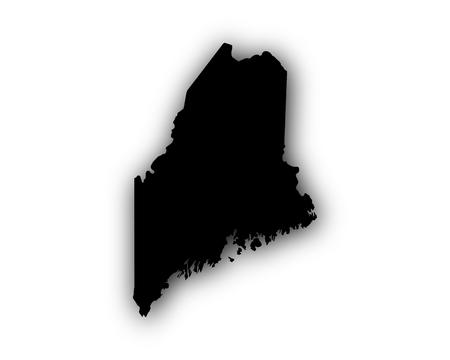 シャドウとメインの地図  イラスト・ベクター素材