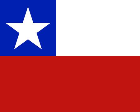 Bandera de colores de Chile Vectores