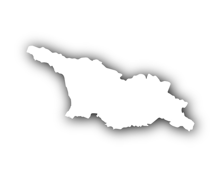 Map of Georgia with shadow