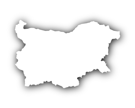 spatial: Map of Bulgaria with shadow