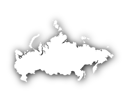 spatial: Map of Russia with shadow