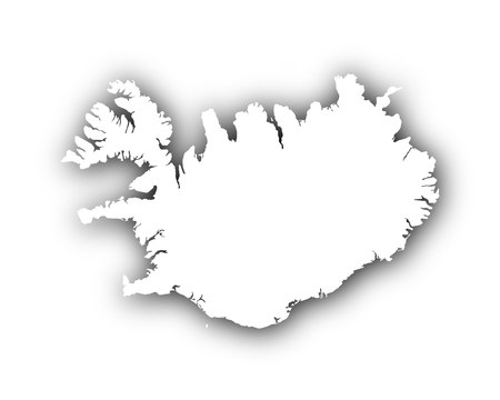spatial: Map of Iceland with shadow