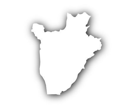 spatial: Map of Burundi with shadow