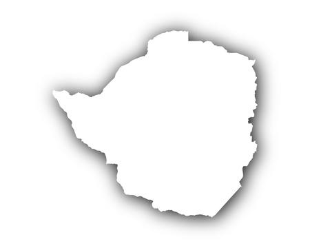 spatial: Map of Zimbabwe with shadow Illustration
