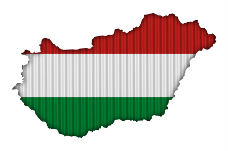 Textured map of Hungary in nice colors  Stock Photo