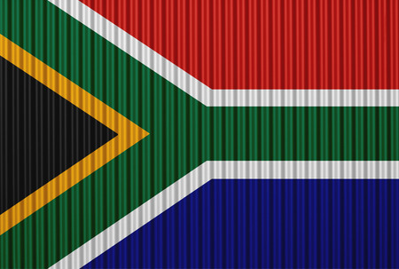 Textured flag of South Africa in nice colors Stock Photo
