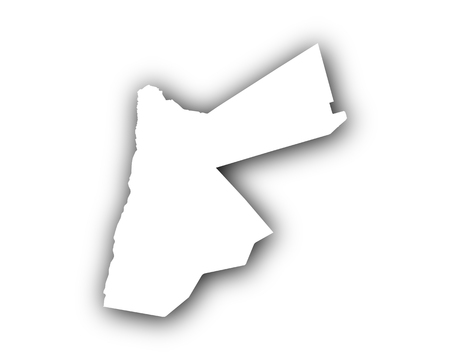 Map of Jordan with shadow