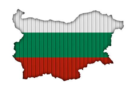 Textured map of Bulgaria in nice colors