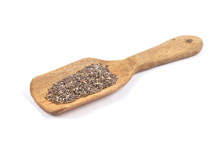 Chia seeds on spoon Stock Photo