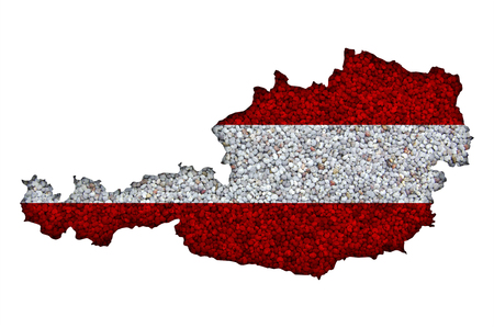 Textured map of Austria in nice colors