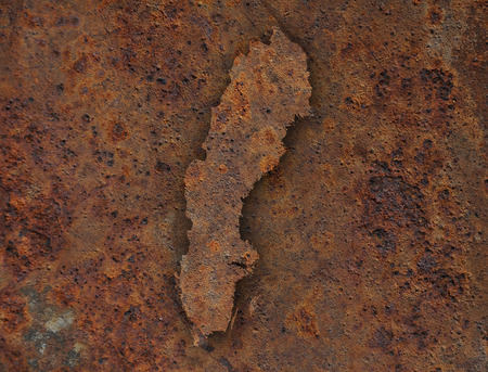 rusts: Map of Sweden Stock Photo