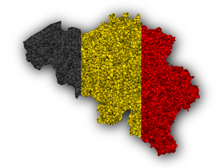 Textured map of Belgium in nice colors