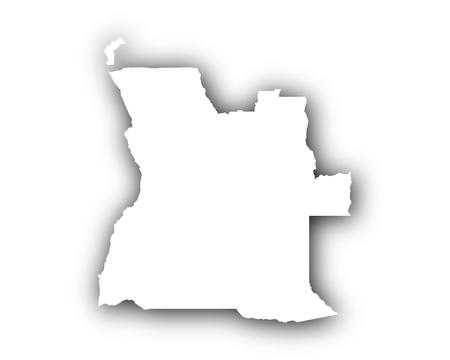 Kaart van Angola met schaduw