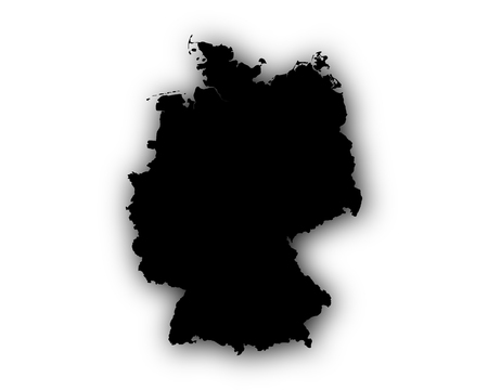 Map of Germany with shadow