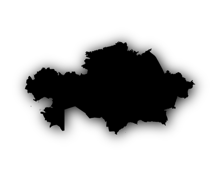 Map of Kazakhstan with shadow Illustration