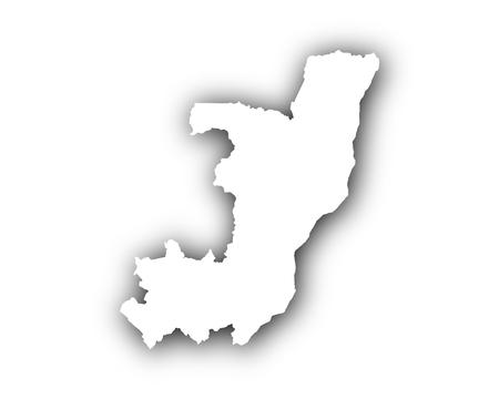 Karte des Kongos mit Schatten Standard-Bild - 80687073