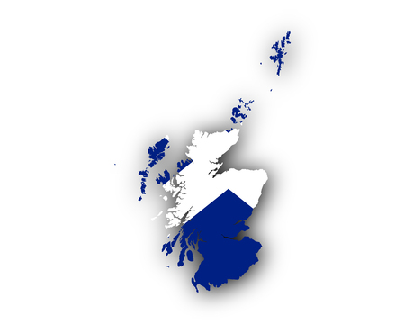 hard: Map and flag of Scotland Illustration