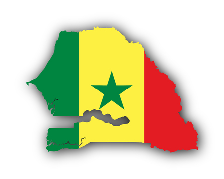 hard: Map and flag of Senegal