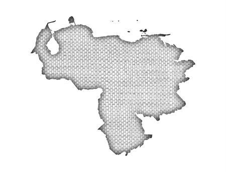 Mapa de Venezuela sobre ropa vieja