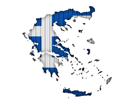 Textured map of Greece in nice colors Stock Photo