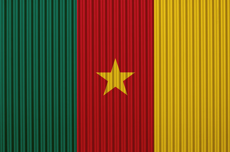 Textured flag of Cameroun in nice colors Stock Photo