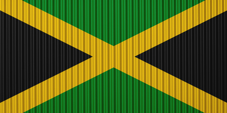 Textured flag of Jamaica in nice colors Stock Photo