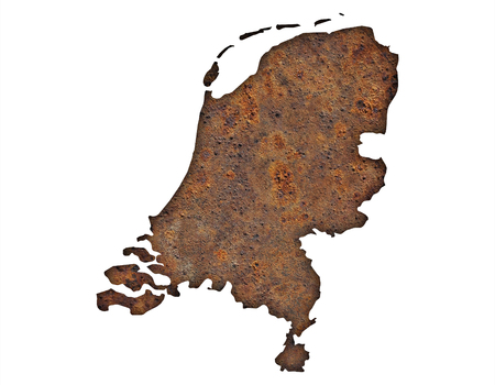 Textured map of the Netherlands in nice colors