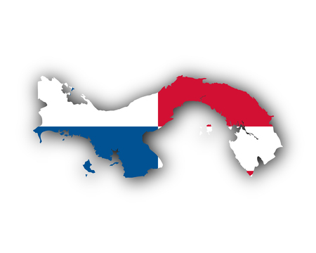 Map and flag of Panama