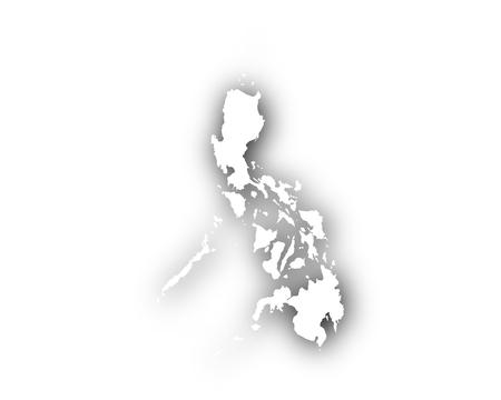 Kaart van de Filipijnen met schaduw