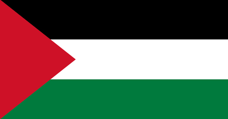 Colored flag of the State of Palestine