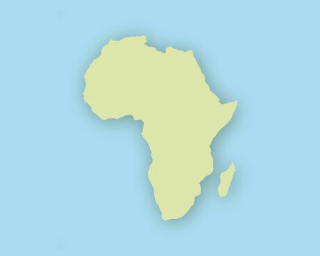 Kaart van Afrika met schaduw