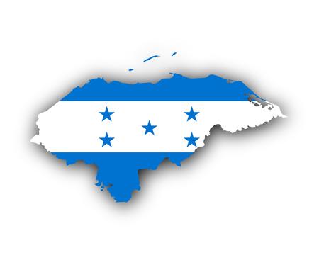 Map and flag of Honduras Illustration