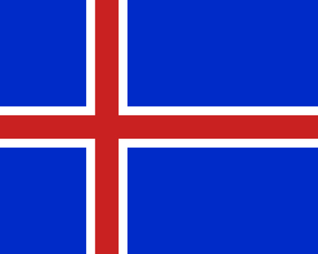Colored flag of Iceland