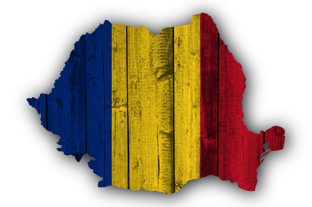 Textured map of Romania in nice colors