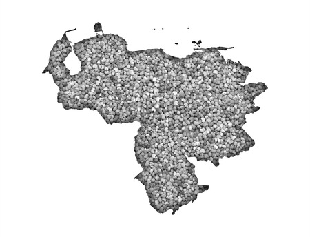 Map of Venezuela on poppy seeds