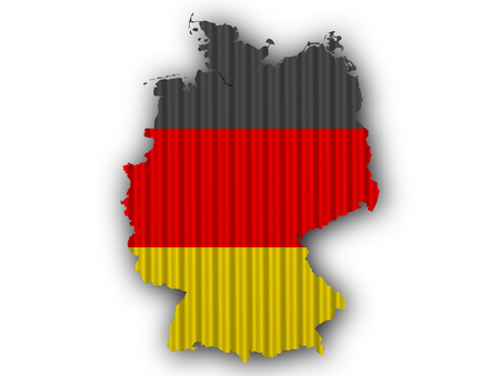 Textured map of Germany in nice colors