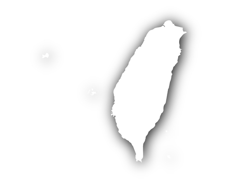 Map of Taiwan with shadow