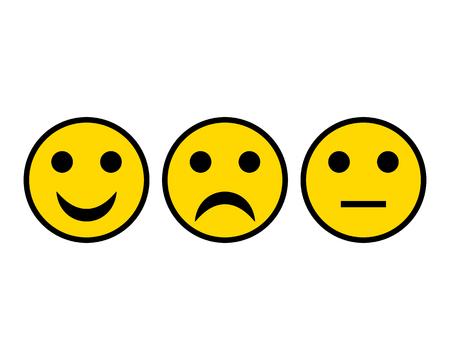Three Smileys on white