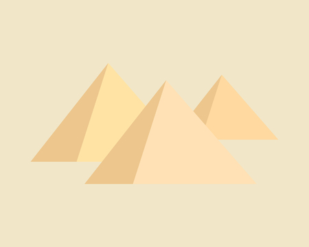 Pyramids on brown background